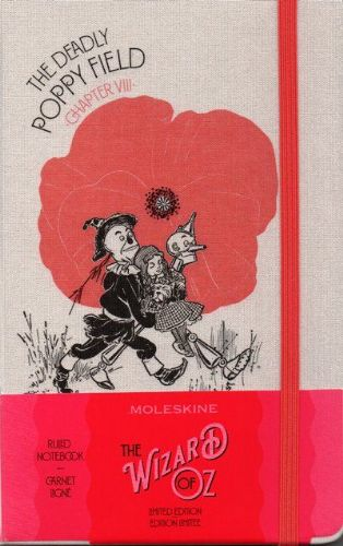 Moleskine Limited Edition Wizard Of Oz Large Ruled Notebook: Poppy Field Red